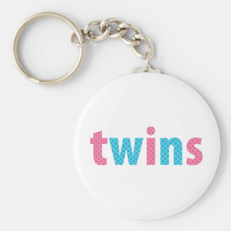 TWINS COLLECTION - mixed aqua + pink Key Chains