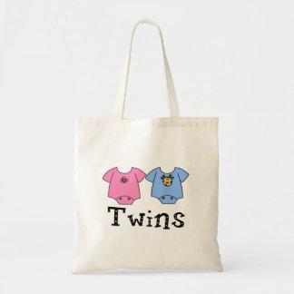 Twins Cute Bodysuit 1 girl & 1 Boy Canvas Bag