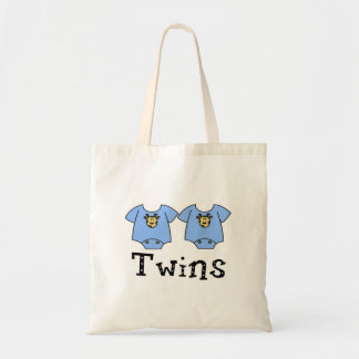 Twins Cute Bodysuit 2 boys Canvas Bags