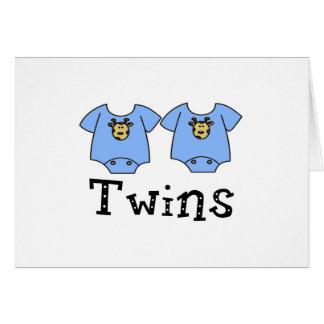 Twins Cute Bodysuit 2 boys Cards
