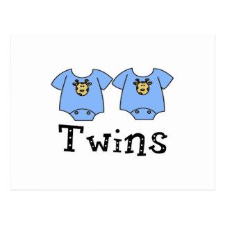 Twins Cute Bodysuit 2 boys Post Cards