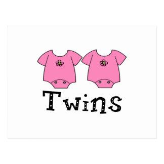 Twins Cute Bodysuit 2 girls Post Card