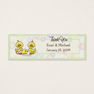 Twins Ducky - Thank You Favor Tag