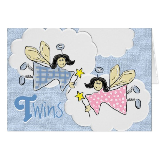 Twins Faeries Card