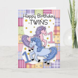 twins 1st birthday cards zazzle com au