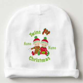 """""""Twins First Christmas"""" BABY HAT Baby Beanie"""