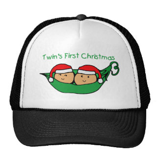 Twins First Christmas - Pod (no date) Mesh Hats