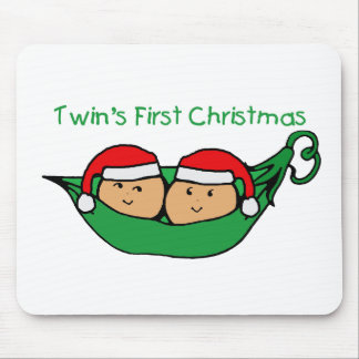 Twins First Christmas - Pod (no date) Mouse Pad