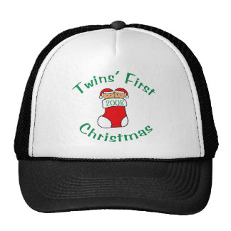 Twins First Christmas - Stocking 2008 Trucker Hats