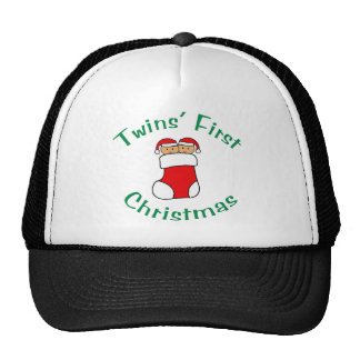 Twins First Christmas - Stocking (no date) Trucker Hat