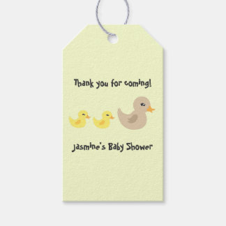 Twins Gender Neutral Duck Striped Baby Shower Gift Tags