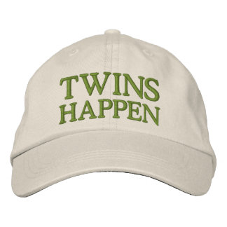 Twins Happen Embroidered Hat