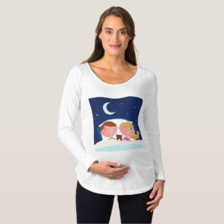 Twins having a Sound Sleep Maternity T-Shirt