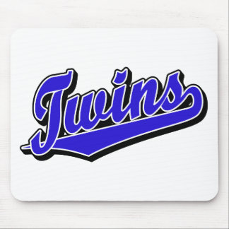 Twins in Blue Mouse Mat