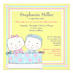 Twins in Crib, Girl and Boy Baby Shower Invitation