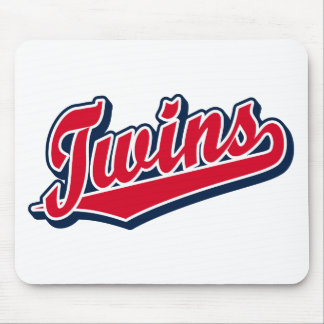 Twins in Red and Blue Mouse Mat