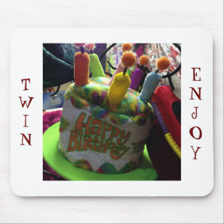 TWIN'S MOUSEPAD FUN CRAZY BIRTHDAY HAT