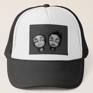 TWINS OF TERROR HAUNTED DOLLY DESIGN TRUCKER HAT