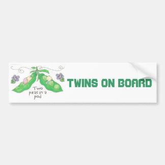 Twins On Board Bumper Sticker