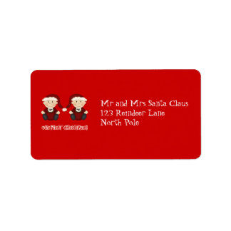 Twins:  Our First Christmas Customizable Address Label