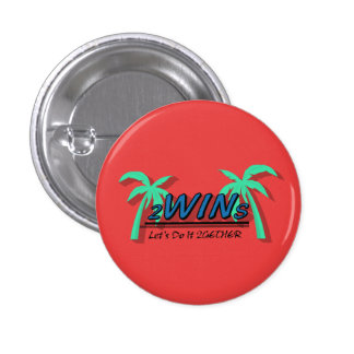twins red 3 cm round badge