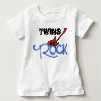 Twins Rock Baby Bodysuit