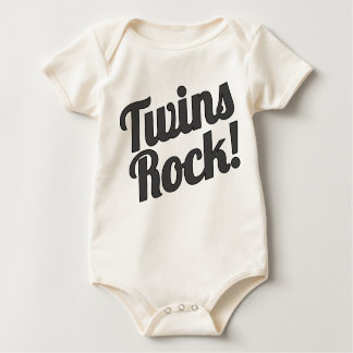 Twins Rock! Baby Bodysuit