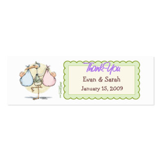Twins Stork Favor Tag Pack Of Skinny Business Cards