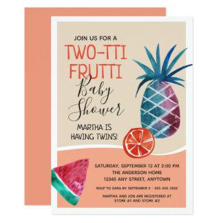 Twins Two-tti Frutti Baby Shower Card