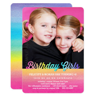 Twin Birthday Invitations Announcements Zazzlecomau