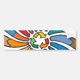 Twirled Recycle Bumper Stickers