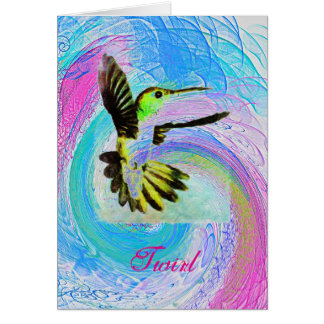 Twirling Hummingbird Note Card