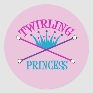 Twirling Princess Classic Round Sticker