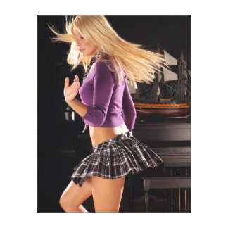 Twirling Schoolgirl Canvas Print