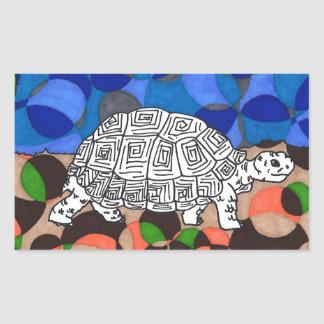 TWIS Blair's Animal Corner Tortoise Rectangular Sticker