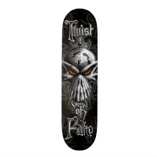 Twist of Fate Skull Skateboard