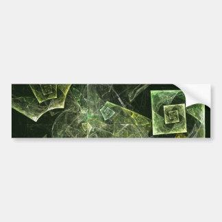Twisted Balance Abstract Art Bumper Sticker