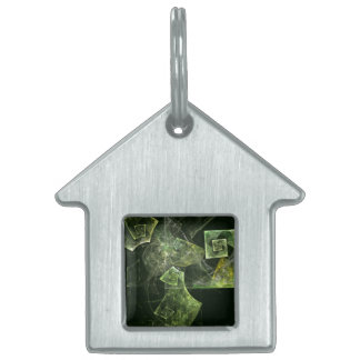 Twisted Balance Abstract Art House Pet Tag