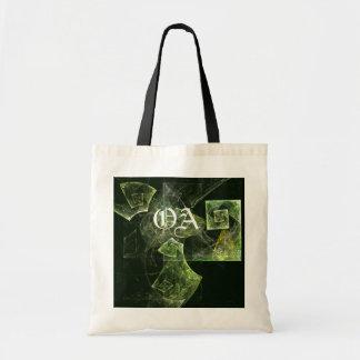 Twisted Balance Abstract Art Monogram Bag