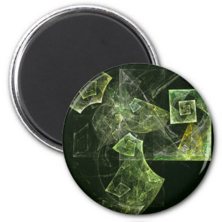 Twisted Balance Abstract Art Round Magnet