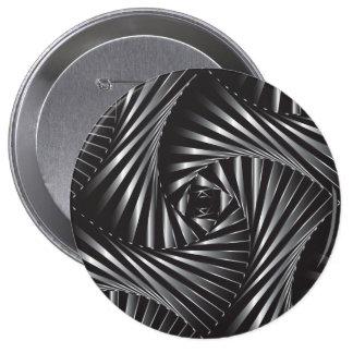Twisted – Black Steel 10 Cm Round Badge