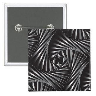 Twisted – Black Steel 15 Cm Square Badge