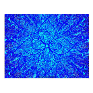 Twisted Blue Flake Post Card