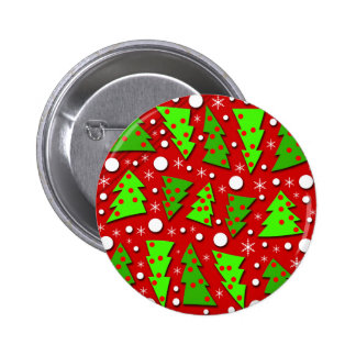 Twisted Christmas trees 6 Cm Round Badge