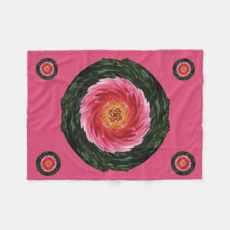 Twisted Dahlia Throw Fleece Blanket