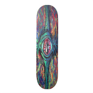 Twisted Eye Oil Painting 20.6 Cm Skateboard Deck
