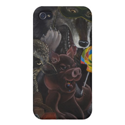 Twisted Fables the bad wolf 4G iphone iPhone 4/4S Cases