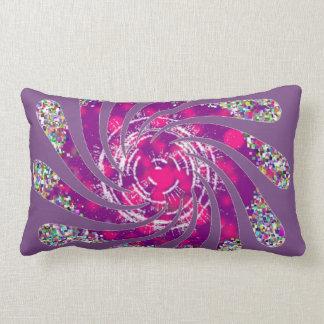 Twisted fan in pink and purple lumbar cushion
