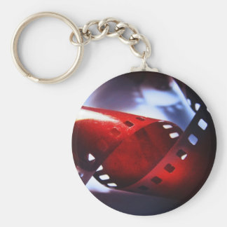 Twisted Film Basic Round Button Key Ring