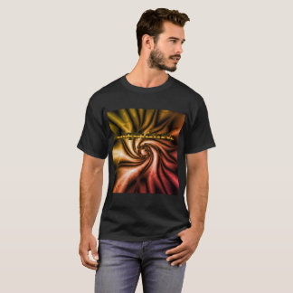 Twisted Fire Kaleidoscope by Liquidartz T-Shirt